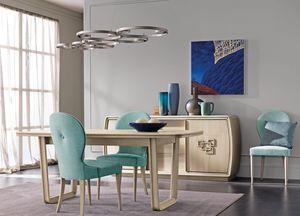Amarcord Art. AM009/G, Table à manger extensible en bois