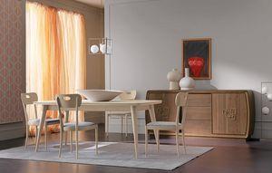 Amarcord Art. AM009, Table en bois avec plateau extensible