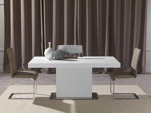 Art. 621 Domus, Table extensible avec une base de colonne
