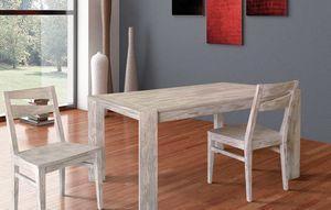 Art. 654, Table en bois avec deux extensions internes