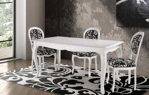 Art. 677, Table de style contemporain classique avec plateau décoré