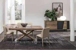 ASTERION 160 TA1C5, Table à manger extensible moderne