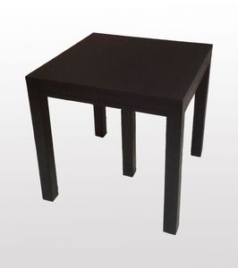 Bruce, Table carrée extensible, wenge finition