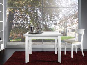 Compléments Table 06, Table extensible en bois, pour les restaurants