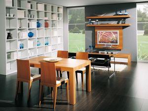 Compléments Table 08, Table en bois extensible, pour manger et salles de séjour