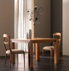 Elettra Art. EL138, Table extensible en bois de noyer