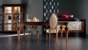 Etoile Art. ET008/A/NO, Table extensible en bois