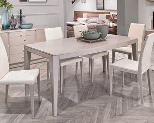 Flor, Table extensible avec plateau elliptique