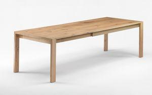 Gimmi, Table en chêne massif, également extensible