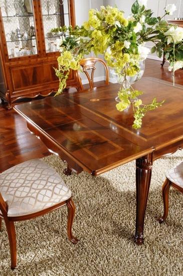 OLIMPIA B / Table rectangulaire, Table classique en bois sculpté, pour Dining Room