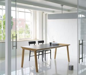 Pigreco, Table extensible avec plateau en bois, pour la salle à manger