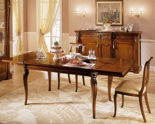 REGINA NOCE / Table rectangulaire, Table en bois extensible, pour les cantines traditionnelles