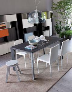 Secret, Extensible table en aluminium idéal pour résidentielle