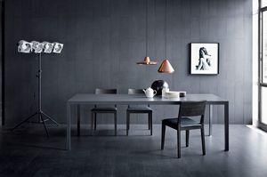 Soffio, Table linéaire pour les salles de séjour, de style moderne
