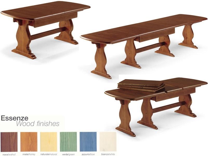 T/700, Table rectangulaire extensible, pour le contrat et l'usage domestique
