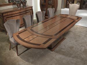 TA62k Charme v, Marqueterie extensible de table en bois, pour les restaurants