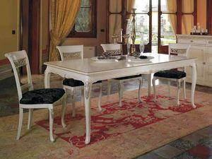 Villa table, Table classique, avec des sculptures précieuses