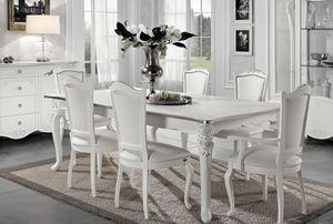 Viola table rectangulaire, Table extensible, style néoclassique