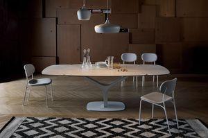 ARISTON, Table extensible ou fixe, avec plateau en verre ou en céramique