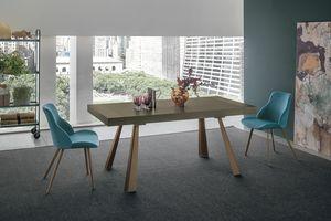 GRECALE TA1C1, Table extensible avec pieds en métal