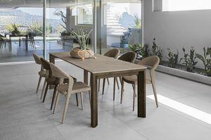 LYTHOS 160 TA514, Table avec plateau en différents matériaux