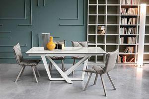 PRIAMO 160 TA1B1, Table avec plateau extensible en grès cérame