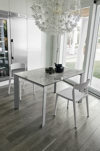SATURNO 110 TA1B2, Table design extensible moderne