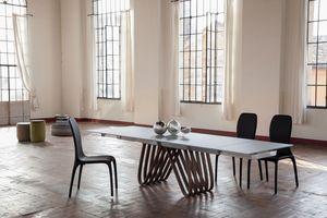ARPA, Table extensible ou fixe, avec plateau en verre, bois, marbre ou céramique