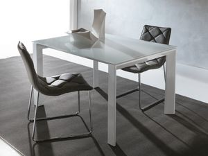 Art. 629 Silver, Table extensible moderne avec pieds triangulaires