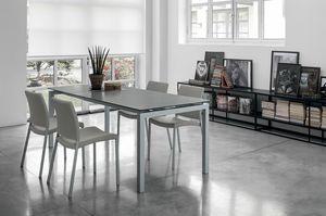 AURIGA 140 TA114, Table rectangulaire avec des extensions de verre