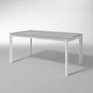 Bailo, Table extensible en verre trempé pour les cuisines