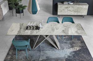 DELTA 180 TA519, Table avec plateau en grès cérame