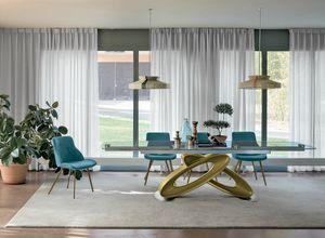 ECLIPSE TA400, Table extensible avec plateau en verre pour les salles modernes