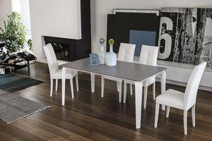 MAGELLANO TA401, Extensible table en verre approprié pour salles modernes