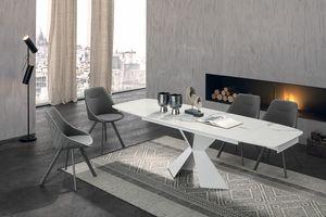 POSEIDONE 160 TA1A0, Table à manger avec un design élégant
