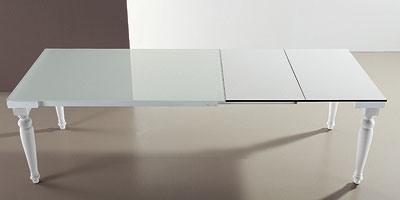 s56 cesare s58 cesarone, Table extensible avec plateau en verre