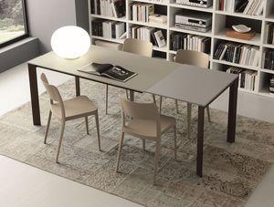 s71 gervaso, Table extensible avec plateau en verre