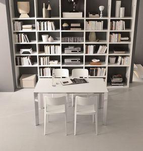 s72 gervasone, Extension de table avec cadre en aluminium et plateau en verre