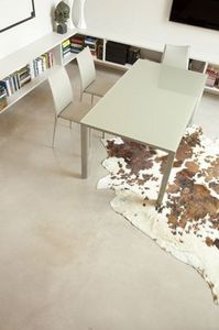 s73 giordano, Table extensible en aluminium peint ou en aluminium barbue