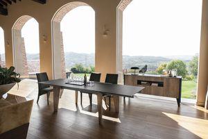 STRATOS TA504, Table extensible avec pieds en stratifié et dessus en GRES