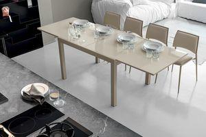 VEGA 120 TA101, Table extensible avec plateau en verre
