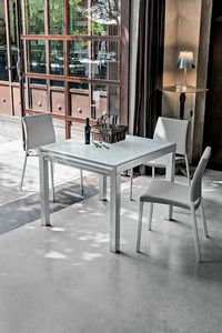VEGA 90 TA100, Table carrée extensible