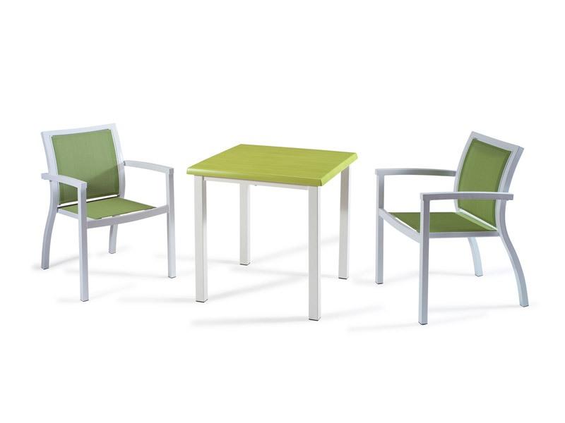 FT 038, Table basse moderne pour les bars, en aluminium brossé