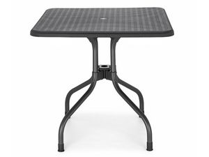 Olimpo quadrillé, Table en aluminium et polypropylène