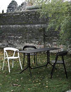 Poule rectangulaire, Table pliante, en aluminium léger