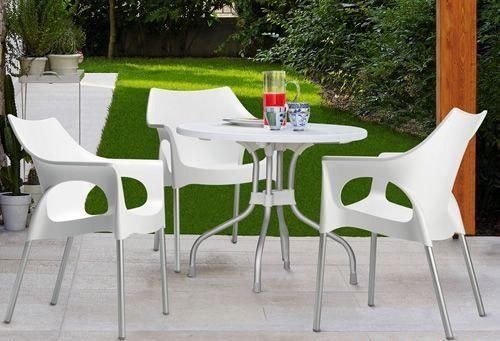 Ribalto Top, Table jardin, plateau rabattable