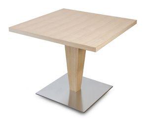 T Carol, Table carrée en bois, pour les bars et restaurants