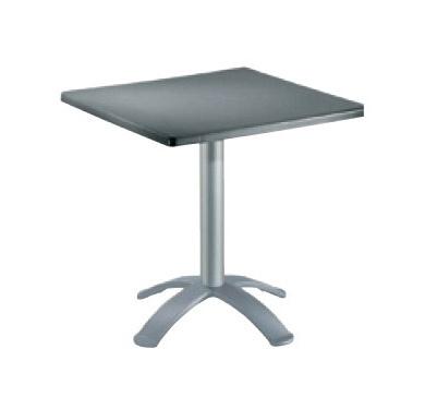 Table 60x60 cod. 20/BG4, Table carrée pour les bars, haut polymère