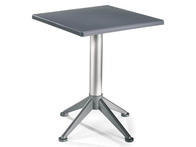 Table 60x60 cod. 20/BG4A, Table carrée avec base en aluminium de 4 pieds