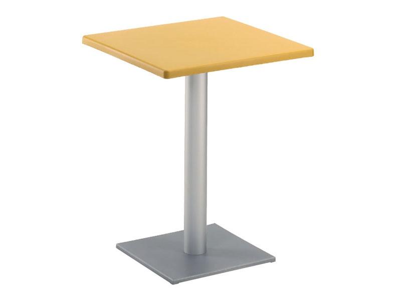 Table 60x60 cod. 20/BQ, Table carrée moderne à base carrée, pour l'extérieur